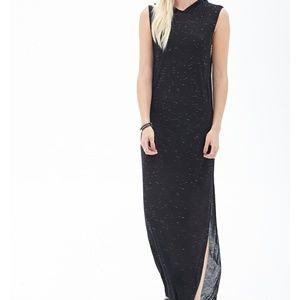 Long hooded maxi dress